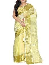 Green Cotton Handwoven tangail Saree -  online shopping for Sarees