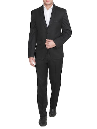 black polyester suits (business and party)