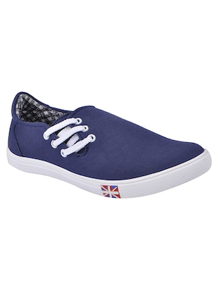 navy canvas slip on shoes -  online shopping for Shoes