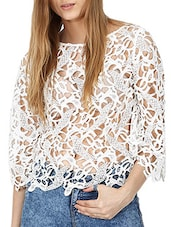white lace top -  online shopping for Tops