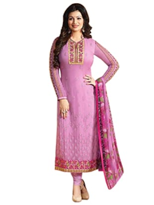 Pink Georgette Bollywood semi-stitched suit
