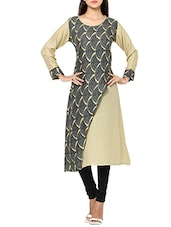 beige color rayon straight kurta -  online shopping for kurtas