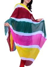 Multicolored Poly Chiffon Leheriya Dupatta - By