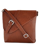 brown leatherette sling bag -  online shopping for sling bags