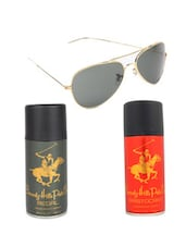 Beverly Hills Polo Club Classic Deodorants (Aristocrat, Regal) with Golden Aviator -  online shopping for Gift Sets