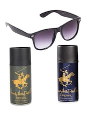 Beverly Hills Polo Club Classic Deodorants (Imperial, Regal) with Black Wayfarer -  online shopping for Men Gift Sets