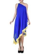 Royal Blue One-shoulder Asymmetrical Dress - By