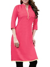 pink rayon aline kurta -  online shopping for kurtas