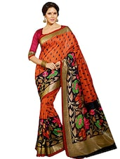 Orange bhagalpuri Silk saree -  online shopping for Sarees