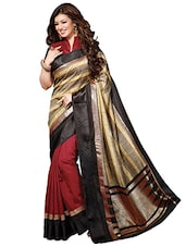 Multicolored Bhagalpuri Silk Saree -  online shopping for Sarees