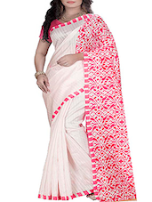 White Bhagalpuri Silk Saree -  online shopping for Sarees