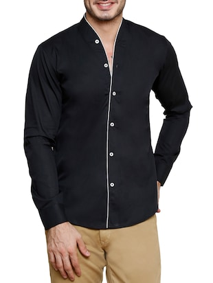 black cotton casual shirt