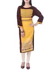 Yellow Rayon Straight Kurta - By
