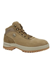 beige rubber lace up boots -  online shopping for Boots