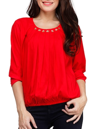 red viscose top