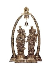 Lord Radha Krishna  Brass Statue Sculpture - By