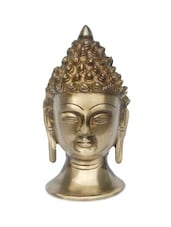 Brown Brass Lord Buddha Head - By