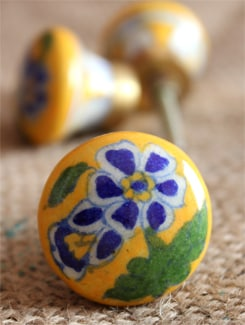 Floral Ceramic Knobs (Set Of 6) - NEERJA