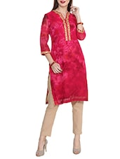 red poly georgette straight kurta -  online shopping for kurtas