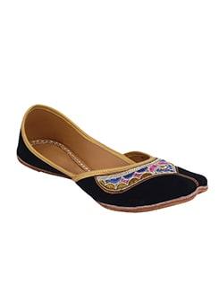 black velvet slip on moccasins  available at Limeroad for Rs.599