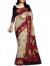beige woven cotton saree -  online shopping for Sarees
