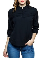 black crepe regular top -  online shopping for Tops