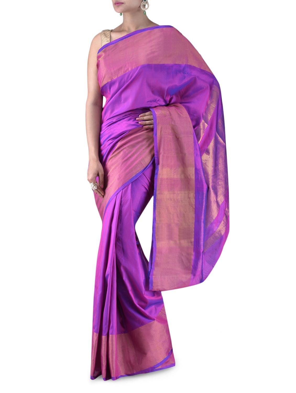 Purple Uppada Silk Saree - By