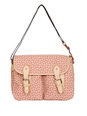 Buckle Flap Printed Sling Bag - By