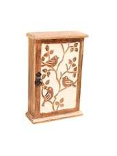Brown Wooden Box Type Key Hanger - By