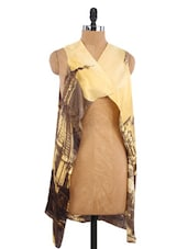 Yellow Polyester Printed Cover-up - By