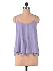 Solid Purple Viscose Top - By