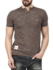 brown cotton tshirt -  online shopping for T-Shirts
