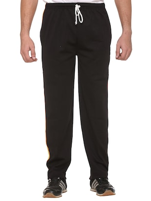 black cotton  full length track pant