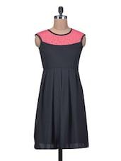 Pink Georgette Lace  Dress - By