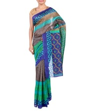 Multicolor Printed Bhagalpuri Silk Saree - By - 1247569