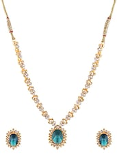 Gold Metallic Embellished Necklace Set - By - 1247668