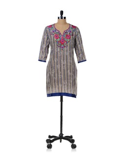 Multicolored Striped Kurta - SHREE