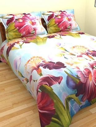 Homefab India 3D Double BedSheet with 2 Pillow Covers