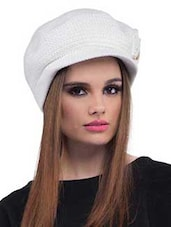 White Polyester Cap - By