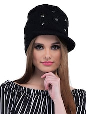 Black Polyester Cap - By