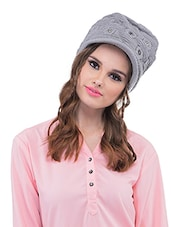 Grey Polyester Cap - By