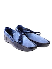 blue synthetic slip on moccasins -  online shopping for Moccasins