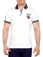 white cotton collared tshirt -  online shopping for T-Shirts