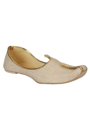 beige synthetic slip on jutis -  online shopping for Jutis