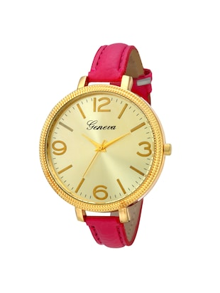 Geneva Collection Golden Dial Analog Watch for Women-GNV-0021-Pink -  online shopping for Wrist watches