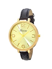 Geneva Collection Golden Dial Analog Watch for Women-GNV-0021-Black -  online shopping for Wrist watches