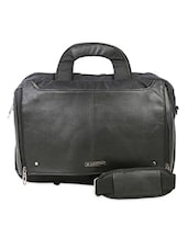 Black Polyester Laptop Bag - By