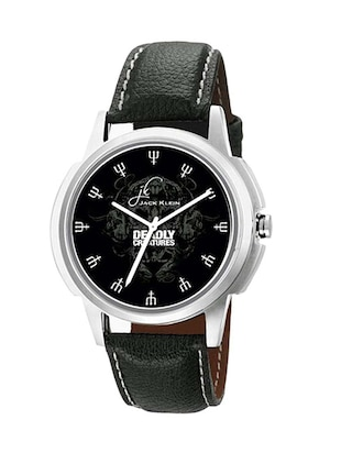 Jack Klein GRP-1228 Synthetic Leather Strap Analog Wrist Watch