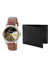 Jack klein Combo of  Leather Strap Analog Watches For Men(SU_1216_black_wallet) -  online shopping for Watch Combos