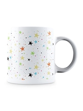 Multicolor Vintage Colorful Stars Pattern Ceramic Mug - By